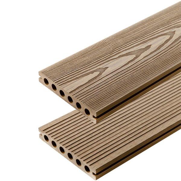 Deska kompozytowa tarasowa 3D Miodowy Teak 600x600 - Deska kompozytowa 3D Miodowy Teak - dł. 4m