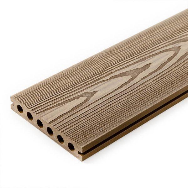 Deska kompozytowa tarasowa 3D Miodowy Teak4 600x600 - Deska kompozytowa 3D Miodowy Teak - dł. 4m