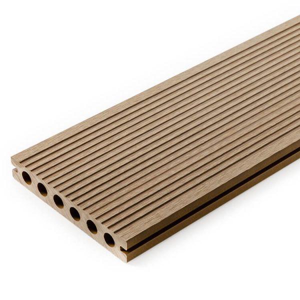 Deska kompozytowa tarasowa 3D Miodowy Teak5 600x600 - Deska kompozytowa 3D Miodowy Teak - dł. 4m