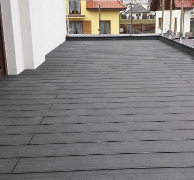 Balkon z deski Standard Antracyt- deseń drewna