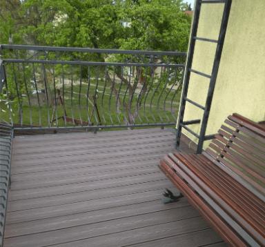 Balkon z deski kompozytowej 3D ciemny brąz