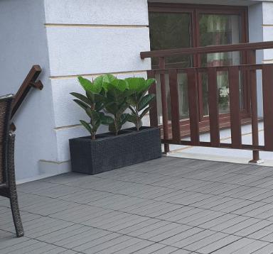 Panele 30x30 antracyt- balkon