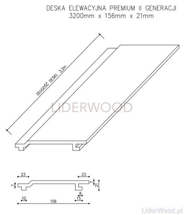deska kompozytowa5 600x701 - Deska Elewacyjna Kompozytowa Premium Złoty Dąb - dł. 3,2m