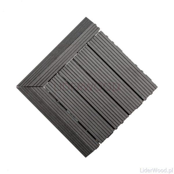 deska kompozytowa3 10 600x600 - Podest Tarasowy Kompozytowy Antracyt 30 x 30 x 2,5cm