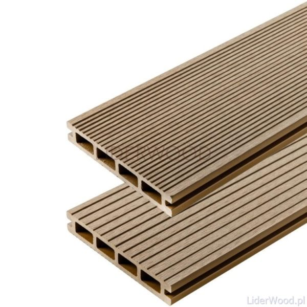 deska kompozytowa3 3 600x600 - Deska Tarasowa Kompozytowa Standard Teak - dł. 3,5m