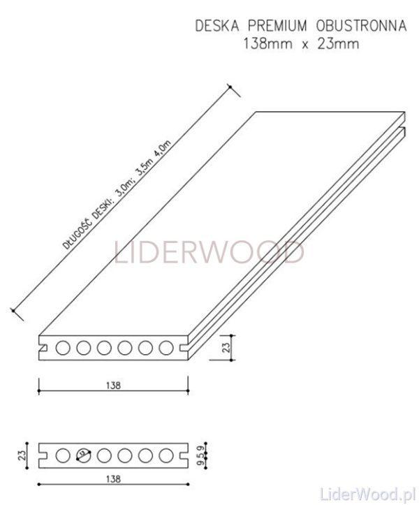 deska kompozytowa4 6 600x723 - Deska Tarasowa Kompozytowa Premium Amber - dł. 3m
