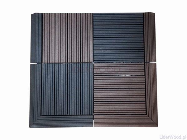 deska kompozytowa8 1 600x450 - Podest Tarasowy Kompozytowy Antracyt 30 x 30 x 2,5cm