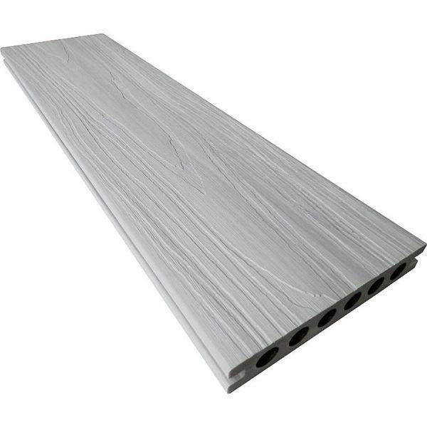 szary deska tarasowa kompozytowa premium jednokolorowa deseń drewna