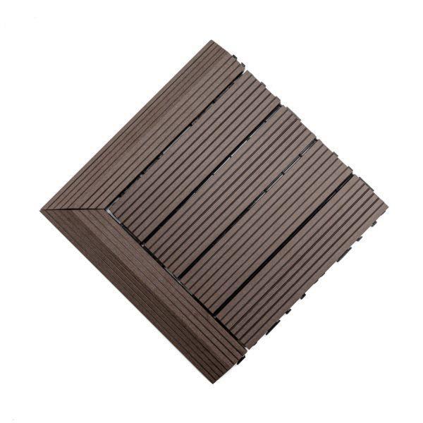 podest tarasowy kompozytowy brąz + panele narożne