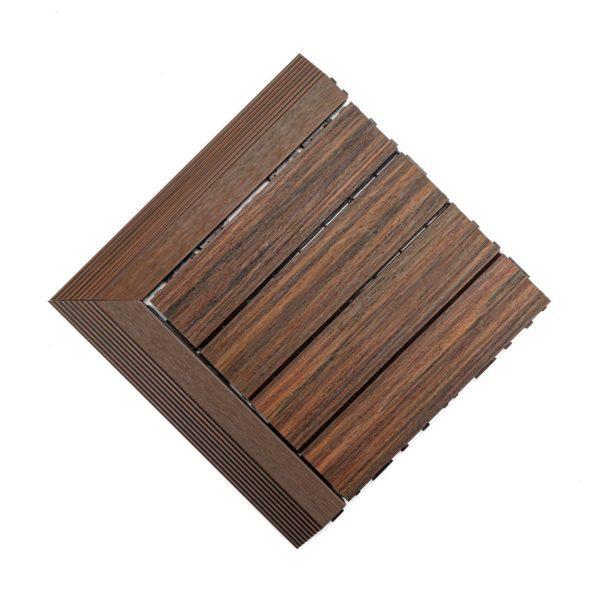 podest tarasowy kompozytowy premium kasztanowy + panele narożne 2