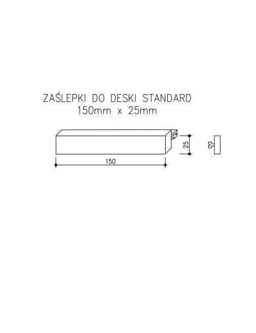 rysunek tech zaślepki do deski Standard - Zaślepka Do Deski Kompozytowej - Standard