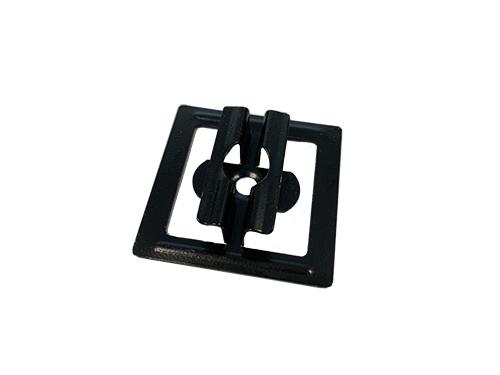1 mini - Klips ze stali nierdzewnej U11 + wkręt - 50 szt. (CZARNY)