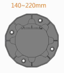 Wspornik ETL 140 220 góra - Wspornik Tarasowy Regulowany pod legar ETL 140-220mm