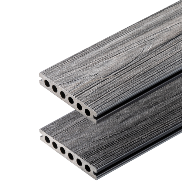 deska premium grey antracyt 600x600 - Deska Tarasowa Kompozytowa Premium Gray - dł. 3m