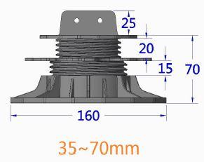 wspornik ETL 35 70mm - Wspornik Tarasowy Regulowany pod legar ETL 35-70mm