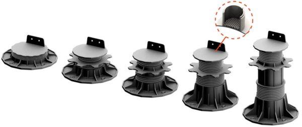 wsporniki ETL x 4 600x253 - Wspornik Tarasowy Regulowany pod legar ETL 35-70mm