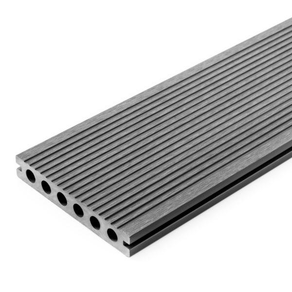 3D j. szary ryfle 600x600 - Deska Tarasowa Kompozytowa 3D Szary - dł. 3,5m