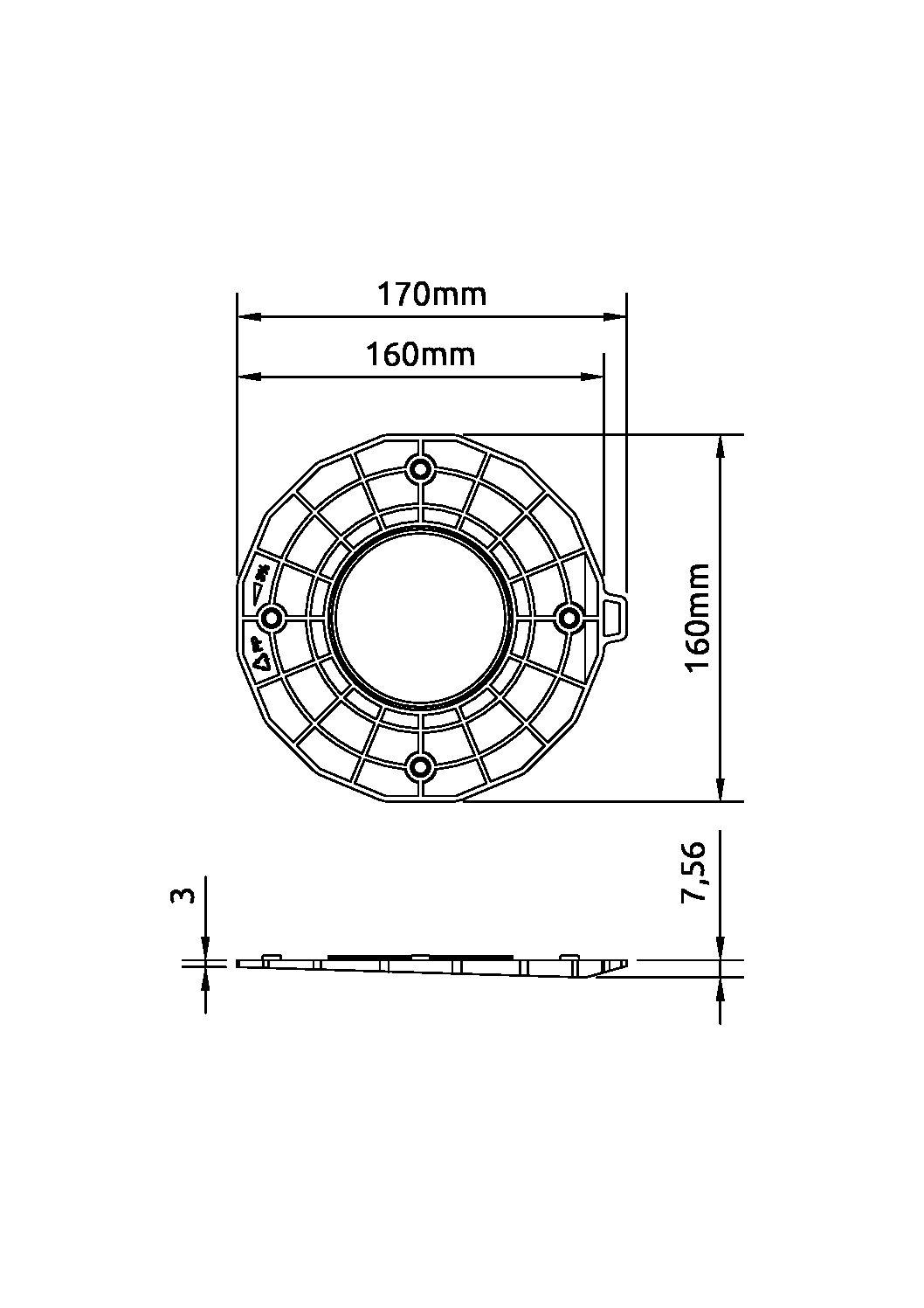 base slope3 pdf - Dysk poziomujący do wspornika 1-3%