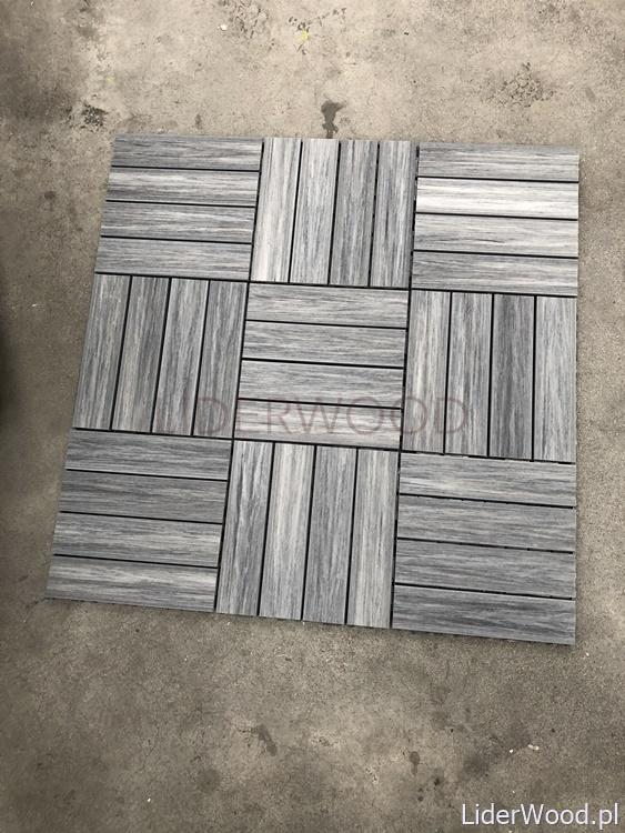 deska kompozytowa1 4 - Podest Tarasowy Kompozytowy Premium Grey 30 x 30 x 2,5cm