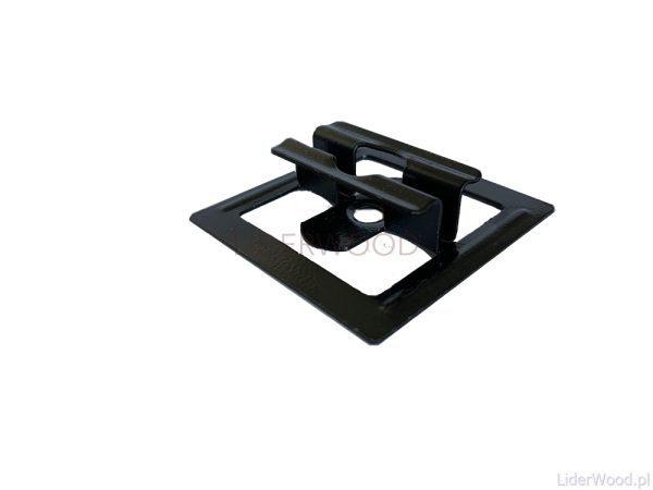 deska kompozytowa2 mini1 600x450 - Klips ze stali nierdzewnej U11 do deski Standard + wkręt - 50 szt. (CZARNY)