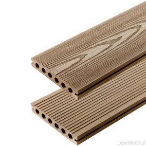 deska kompozytowa3 1 300x300 - Deska Tarasowa Kompozytowa 3D Teak - dł. 3m