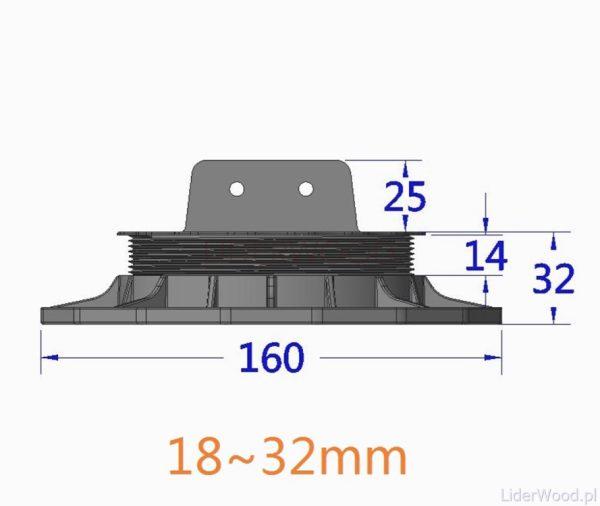 deska kompozytowa3 8 600x506 - Wspornik Tarasowy Regulowany pod legar ETL 18-32mm