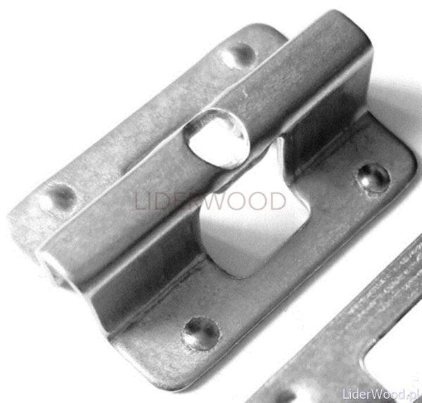 deska kompozytowaklips1 600x573 - Klips montażowy ze stali nierdzewnej U-1 do deski 3D i Premium+wkręt - 50 szt.