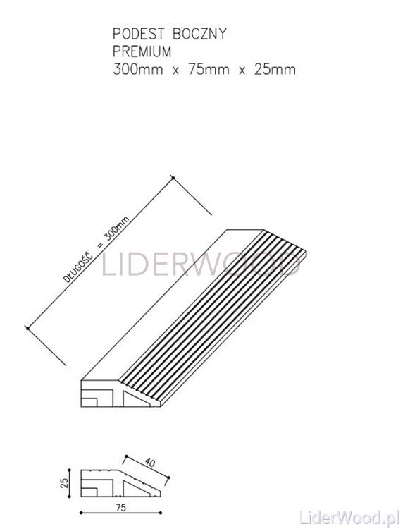 deska kompozytowa1 8 - Podest Tarasowy Kompozytowy Premium Boczny Redwood