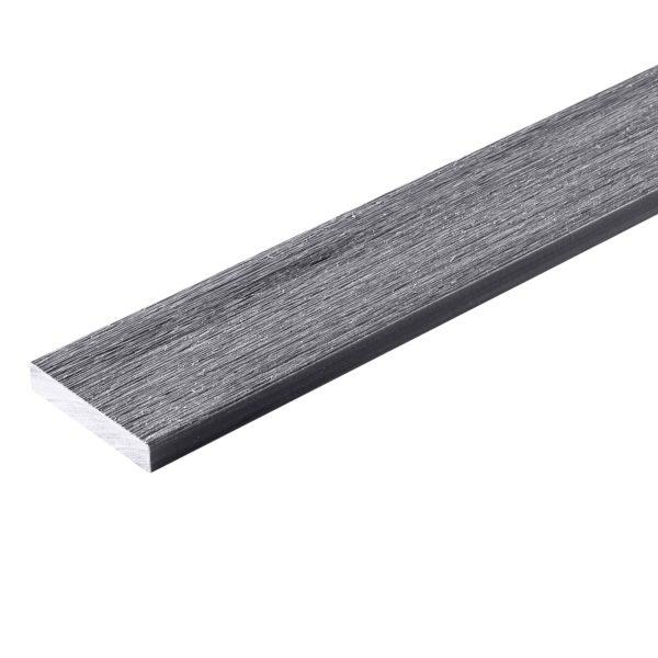 premium grey listwa prosta 600x600 - Listwa Kompozytowa Prosta Premium Gray - dł. 2,4m